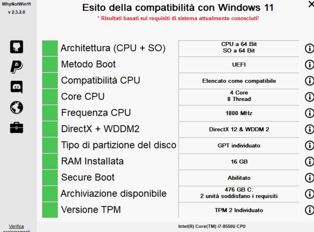 Verifica pc e Windows 11